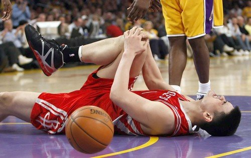 professional sports injuries - Yao Ming